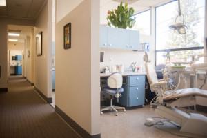 Sharon Albright DDS Dental remodeled treatment rooms hall