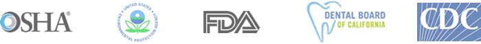 OSHA, EPA, FDA, Dental Board of California, CDC logo