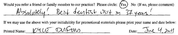 best dentist in 37 years - Kyle